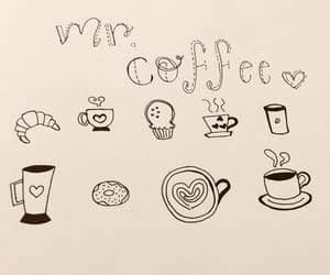 cafe, doodles, and drawings image