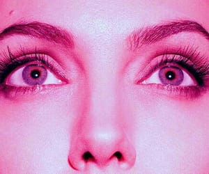 Angelina Jolie, eyes, and pink image