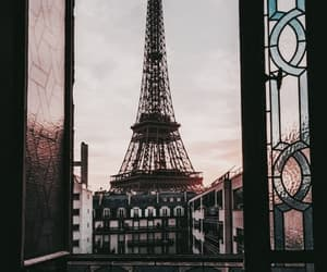 city, tower eiffel, and places image