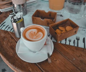 aesthetics, cappuccino, and coffee image