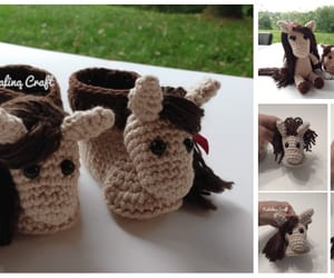 crochet, horse, and baby booties image