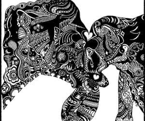 drawning, tattoo inspiration, and zentangle image