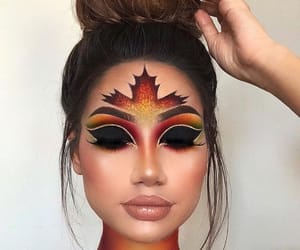 makeup, autumn, and fall image