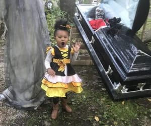 baby, Halloween, and curlyhair image