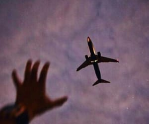 sky, airplane, and tumblr image