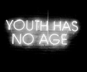 neon sign, quotes, and youth image