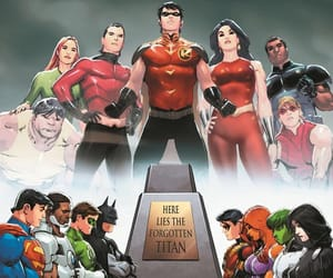 Arsenal, titans, and dc comic image