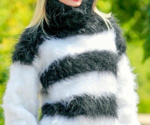 black white, cosy, and mohair image