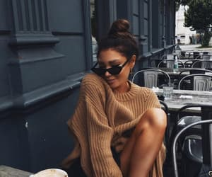 fashion, girl, and cafe image