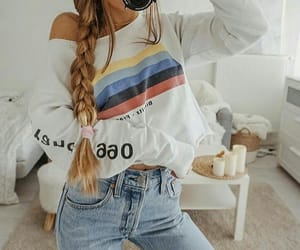 fashion, hair, and follow me image