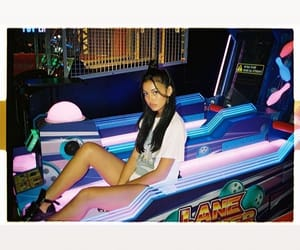 arcade, brunette, and eyebrows image