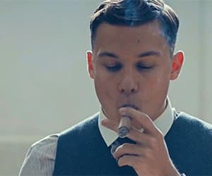 cigar, gif, and handsome image