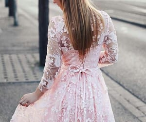 lace, pink, and star image