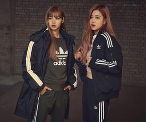adidas, lisa, and pink image