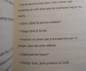 cafe, frases, and letras image