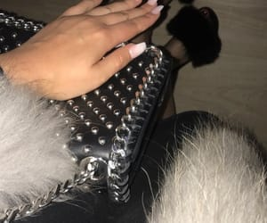 bag, nails, and outfit image