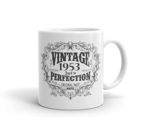1953, funny coffee mug, and 1953 birthday gift image