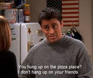 friends, Joey, and pizza image