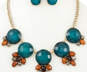 brown, fashion, and necklace image