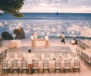 beach, perfection, and wedding image