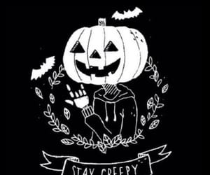 Halloween, pumpkin, and creepy image