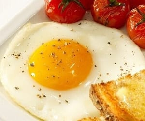 breakfast, delicious, and fried eggs image