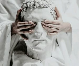 statue, white, and hands image