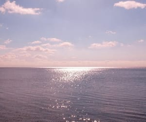 sky, pink, and ocean image