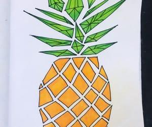 angular, drawing, and pineapple image