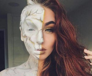 makeup, Halloween, and style image