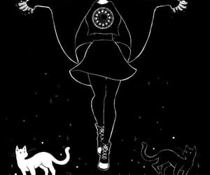 cat, witch, and black image