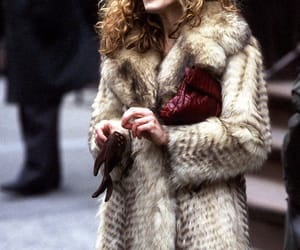 Carrie Bradshaw, satc, and fur image