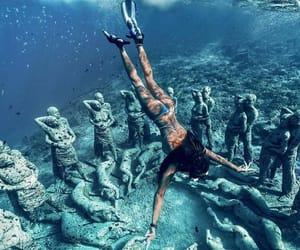 summer, swim, and travel image