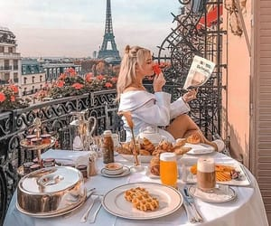 breakfast, girl, and goals image