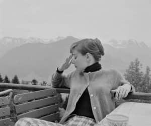 black and white, vintage, and aurdey hepburn image