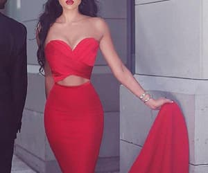 sexy prom dresses, prom dresses red, and red mermaid evening dress image
