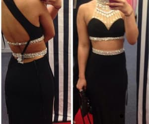 beautiful evening dresses, evening dresses long, and prom dress black image