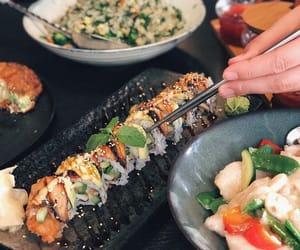 food, seafood, and sushi image