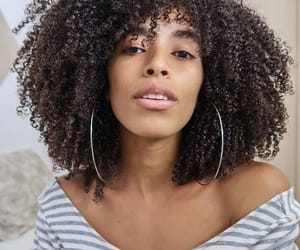 curls, curly hair, and girls image