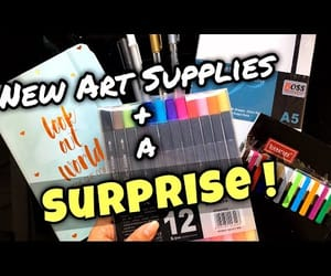 art, art supplies, and video image
