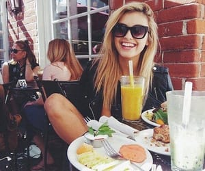 girl, lunch, and restaurant image