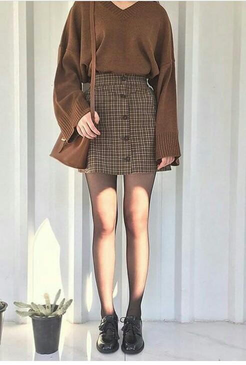 brown, skirt, and vintage image