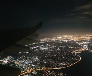 air, airplane, and chicago image