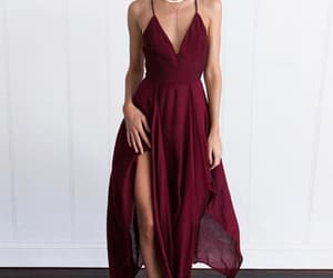 prom dresses for cheap, burgundy prom dresses, and prom dresses 2018 image