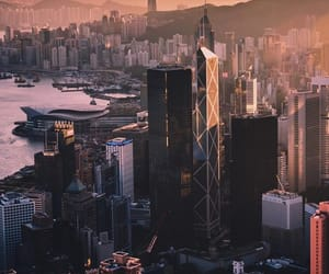 shanghai, sunset, and town image