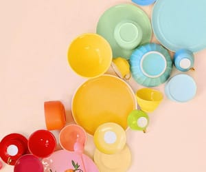 colorful, colors, and dishes image