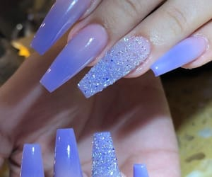 sparkle, naila, and coffin nails image