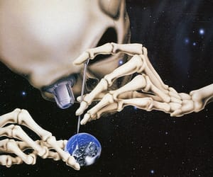 art, curiosity, and skeleton image