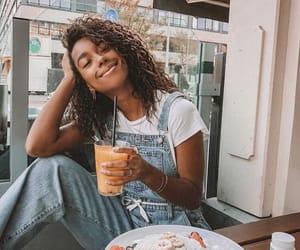 breakfast, curls, and denim image