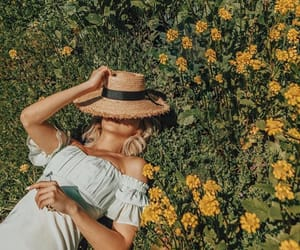 field, flowers, and nap image